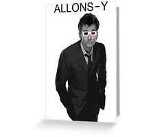 Tenth Doctor - 3D Glasses Greeting Card