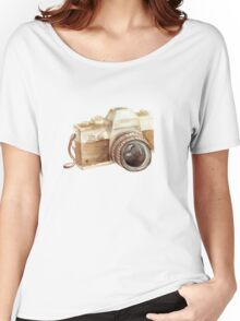 watercolor camera Women's Relaxed Fit T-Shirt