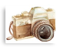 watercolor camera Canvas Print