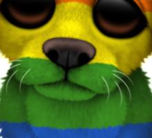 Cute Gay Pride Rainbow Flag Puppy Dog Sticker