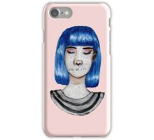 cute blue haired girl iPhone Case/Skin