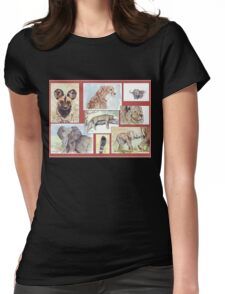 South African Wildlife collection Womens Fitted T-Shirt