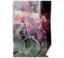 Still Life With Ribbed Glass Poster