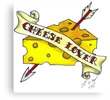 Cheese Lover Canvas Print