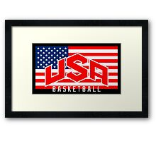 USA BASKET TEAM RIO 2016 Framed Print