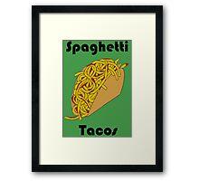 Spaghetti Tacos 2 Framed Print