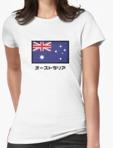 Australia National Flag (Japanese Version) Womens Fitted T-Shirt