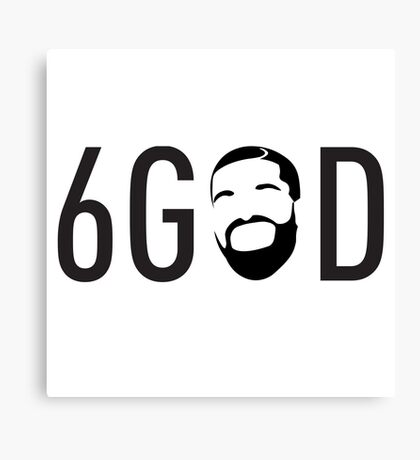 6 GOD  Canvas Print