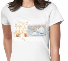 A cup of tea... Womens Fitted T-Shirt