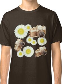 pattern. camera with flowers  Classic T-Shirt