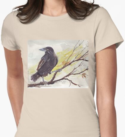Crow on a bough - Coco Womens Fitted T-Shirt