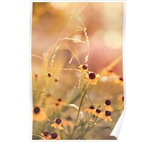 Yellow Flowers Childhood Memories Poster