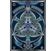 Unique abstract poster designs-Silver Clover Photographic Print