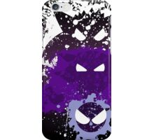 Gastly, Haunter, and Gengar Splatter iPhone Case/Skin