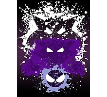 Gastly, Haunter, and Gengar Splatter Photographic Print