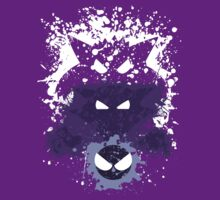 Gastly, Haunter, and Gengar Splatter by adhpv