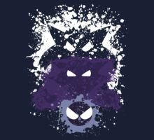 Gastly, Haunter, and Gengar Splatter Kids Clothes