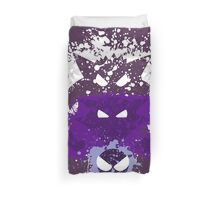Gastly, Haunter, and Gengar Splatter Duvet Cover