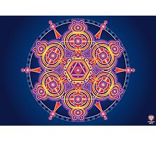 Unique abstract poster designs-Hexagon Serpents Photographic Print