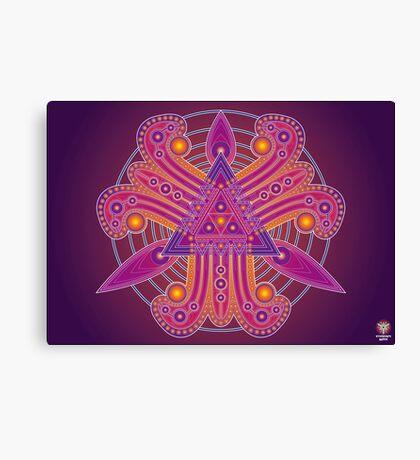 Unique abstract poster designs-Tri Petals Canvas Print