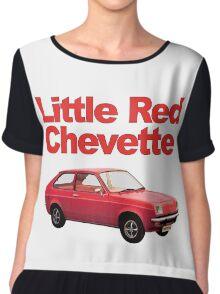 Little Red Chevette Chiffon Top