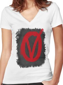 V for Vendetta  Women's Fitted V-Neck T-Shirt
