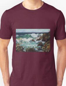 Tide coming in at Pandanus Cove - plein air Unisex T-Shirt