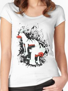 Houndour and Houndoom Splatter Women's Fitted Scoop T-Shirt