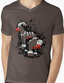 Houndour and Houndoom Splatter Mens V-Neck T-Shirt
