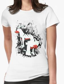 Houndour and Houndoom Splatter Womens Fitted T-Shirt