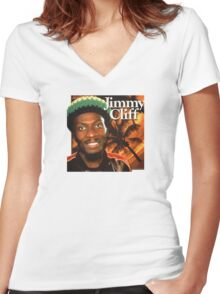 jimmy cliff Women's Fitted V-Neck T-Shirt