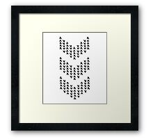 Chevronic Framed Print
