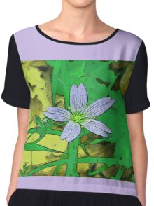lilac little star  Women's Chiffon Top