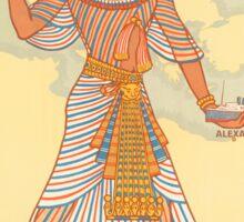 Vintage Egypt 1927 Travel Poster Sticker