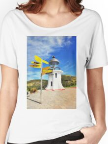 Old lighthouse in watercolor Women's Relaxed Fit T-Shirt