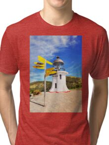 Old lighthouse in watercolor Tri-blend T-Shirt