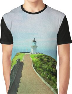 Old lighthouse in watercolor Graphic T-Shirt