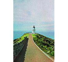 Old lighthouse in watercolor Photographic Print