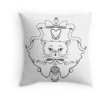 Cat Crest Throw Pillow