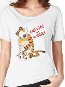 Calvin and Hobbes T-shirt - Warmly Hug  Women's Relaxed Fit T-Shirt