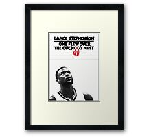 Lance Stephenson - One Flew Over the Cuckoo's Nest Framed Print