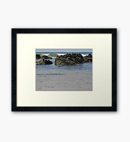 Rocky Waves Framed Print