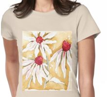 Daisies in the Rain Womens Fitted T-Shirt