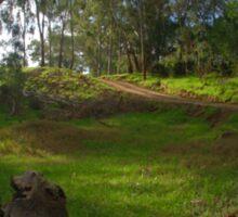 Bush track over the hill Sticker
