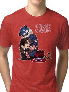 Calvin Meets His Idol : Captain Hobbesca Tri-blend T-Shirt