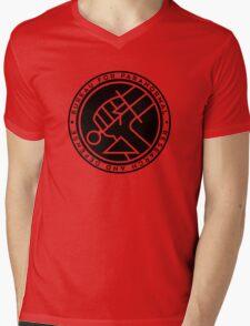 BPRD black icon Mens V-Neck T-Shirt
