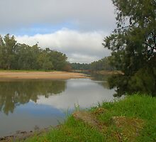 Calm mirror like murray river by ndarby1