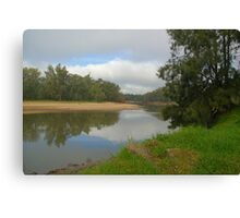 Calm mirror like murray river Canvas Print