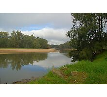 Calm mirror like murray river Photographic Print
