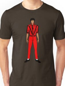 Thriller Red Jackson Pattern Unisex T-Shirt